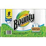 Bounty Select-A-Size Perforated Paper Towel Rolls, 2-Ply, 8 Rolls/Case -- $6.99 +Free Store PU@Staples