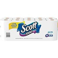 Staples Deal: Scott Bath Tissue Rolls, 1-Ply, 20 Rolls/Case $9.99 @ Staples.com