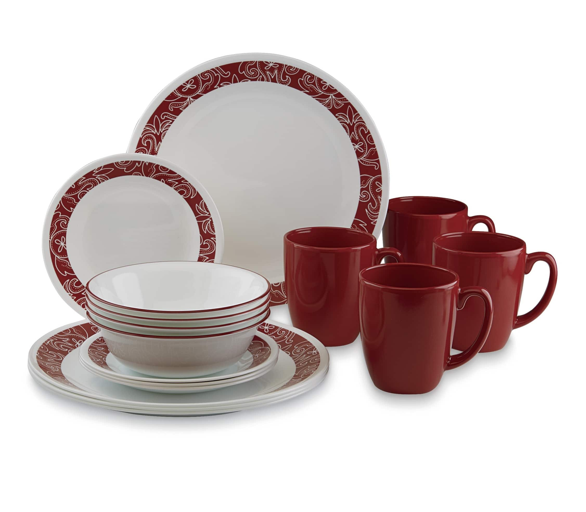 Corelle Livingware 16pc dinnerware set - Bandhani design $10