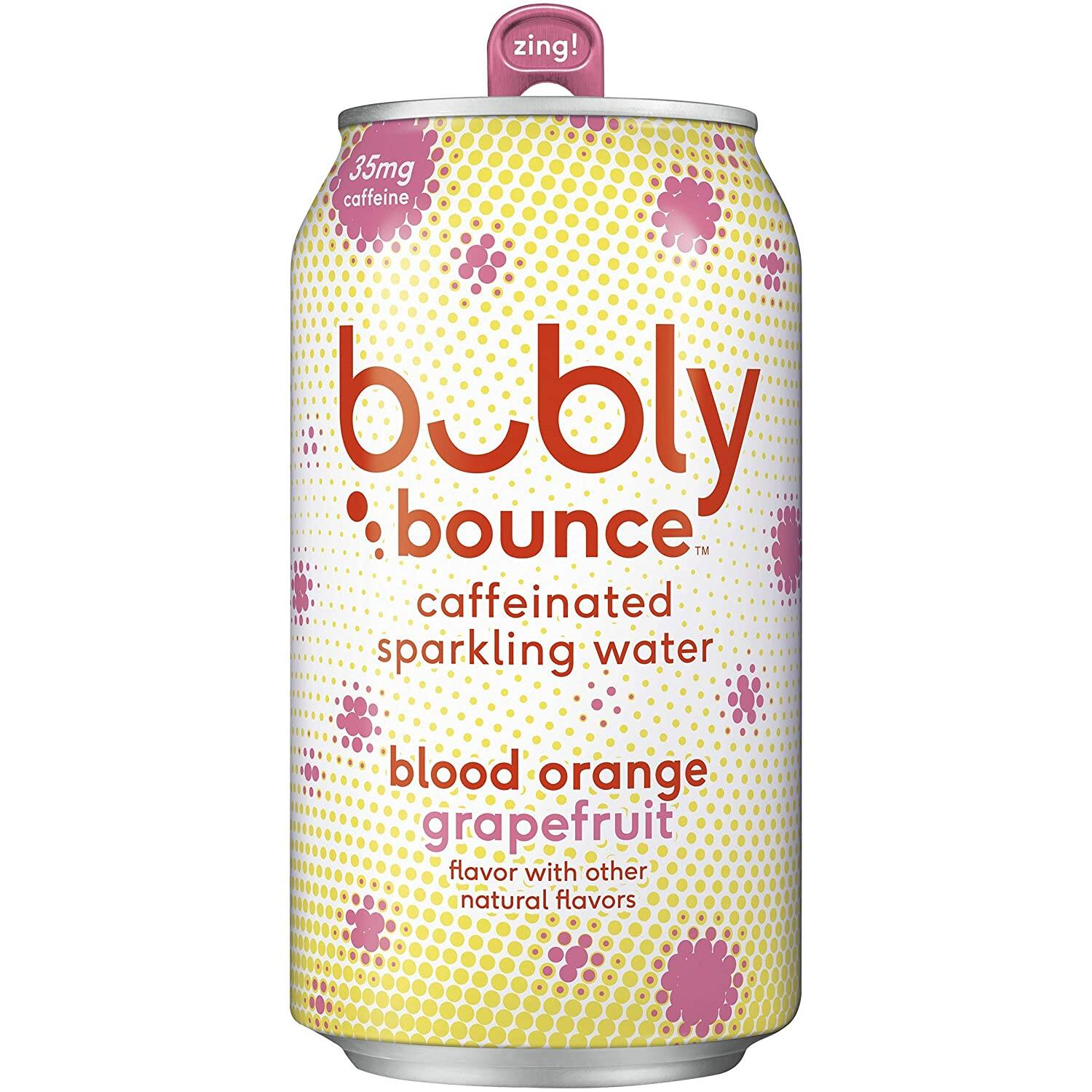Bubly Bounce Caffeinated Sparkling Water (Blood Orange Grapefruit) , 12oz Cans (18 Pack) w/ Prime $7.61
