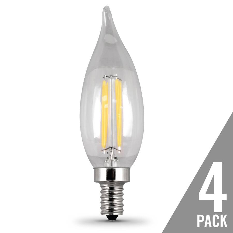 Feit Electric 4-Pack 40 W Equivalent Dimmable Soft White Candelabra Led Light Bulbs YMMV $7.26