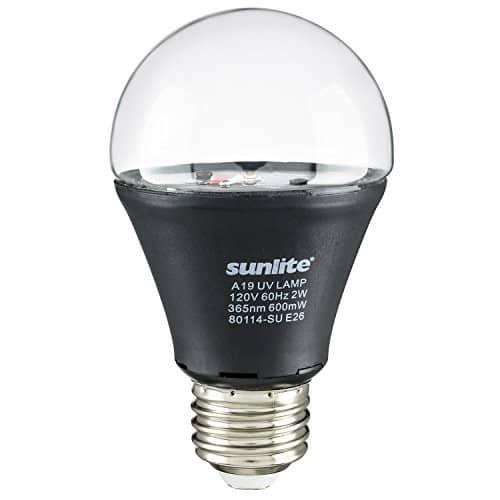 Sunlite 2W LED UV Blacklight A19 Medium Base Bulb $11.89