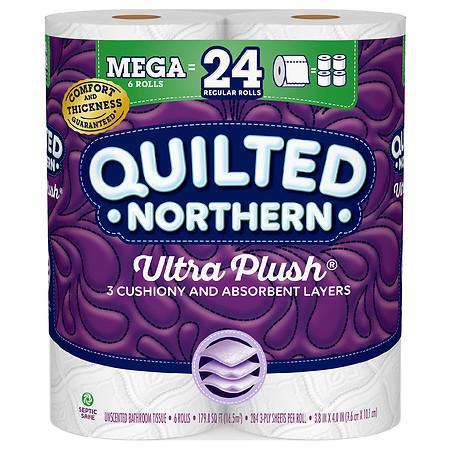 Quilted Northern Ultra Plush 24 Mega Rolls (6 rolls x4) - Walgreens $16.96 - ACx3, FS, before tax