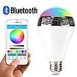 1byone Wireless Bluetooth 4.0 Speaker Smart LED Night Light Playbulb Audio Music RGB Lamp, Hot Sale, ONLY $34.99 at Amazon