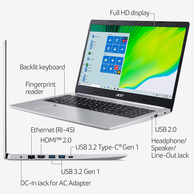 "Acer Aspire 5 A515-46: 15.6"" FHD IPS, Ryzen 3 3350U 4 Core, 4GB DDR4, 128GB PCIe SSD, Wi-Fi 6, Win10H @ $299.99 + F/S"
