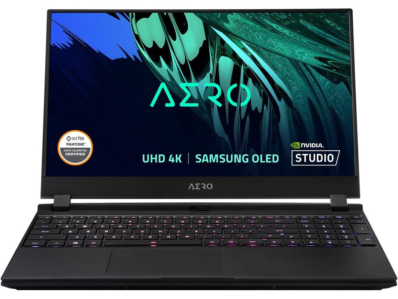 "Gigabyte Aero 15 OLED YD: 15.6"" 4K AMOLED, i7-11800H, RTX 3080, 16GB DDR4, 1TB PCIe Gen 4 SSD, Thunderbolt 4, Win10 Pro @ $1569 AR + F/S"