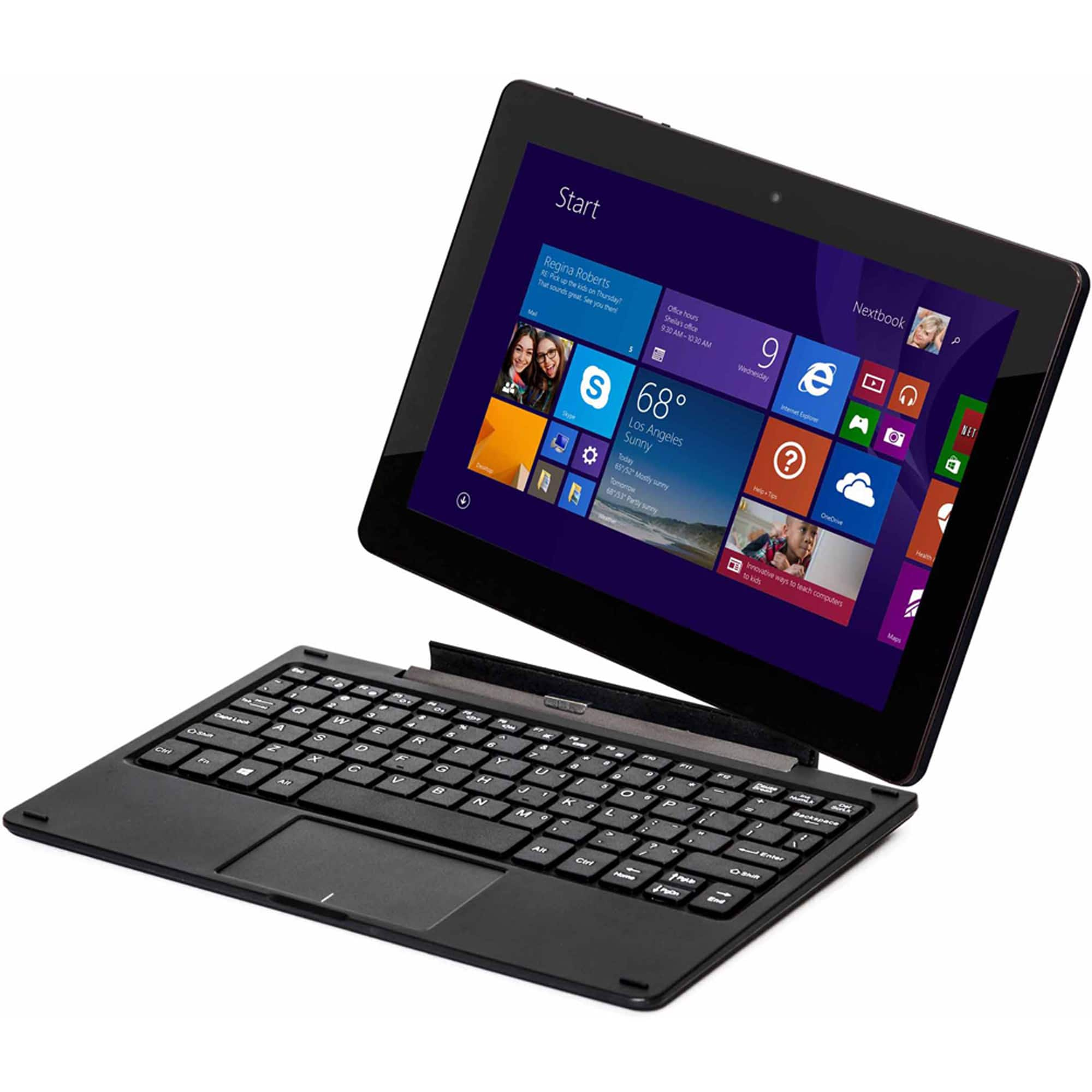 "Double Power DPW10A 2-in-1 Detachable Laptop 10"" 768P IPS Touch, Atom Z3735F, 2GB Ram, 32GB eMMC, Win10 Home, Keyboard Dock @ $90 with F/S"