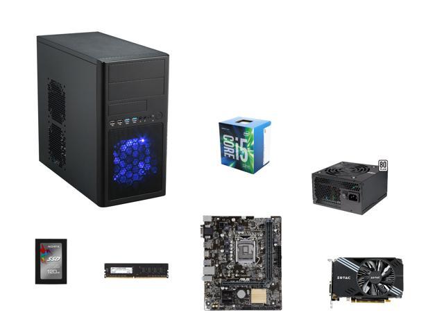 """Core i5-6500, ASUS H110M-E/M.2 mATX MOBO, G.SKILL NT 8GB DDR4 2400, ZOTAC GTX 1060 Mini 3GB GPU, EVGA 430W PSU, ADATA Premier SP550 2.5"""" 120GB SSD, Rosewill Line-M mATX CASE @ $557"""