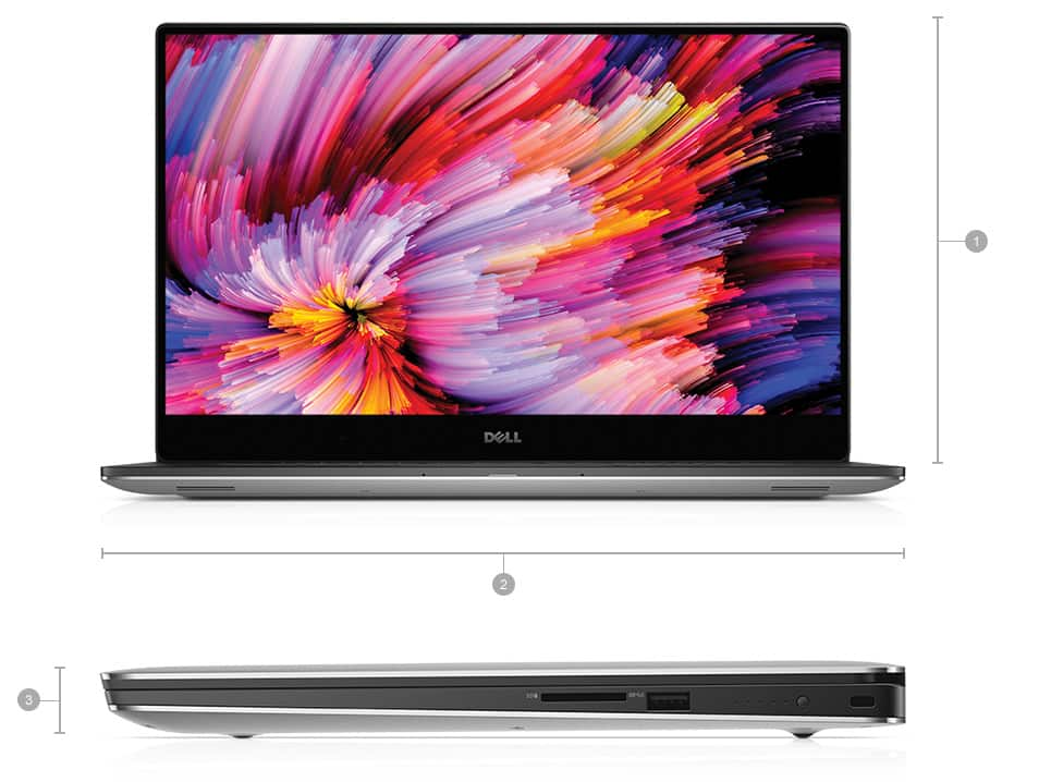"Dell XPS 15.6"" Laptop: i7-7700HQ, 8GB DDR4, 256GB SSD, GTX 1050 4GB, Thunderbolt 3 @ $1260 with F/S"