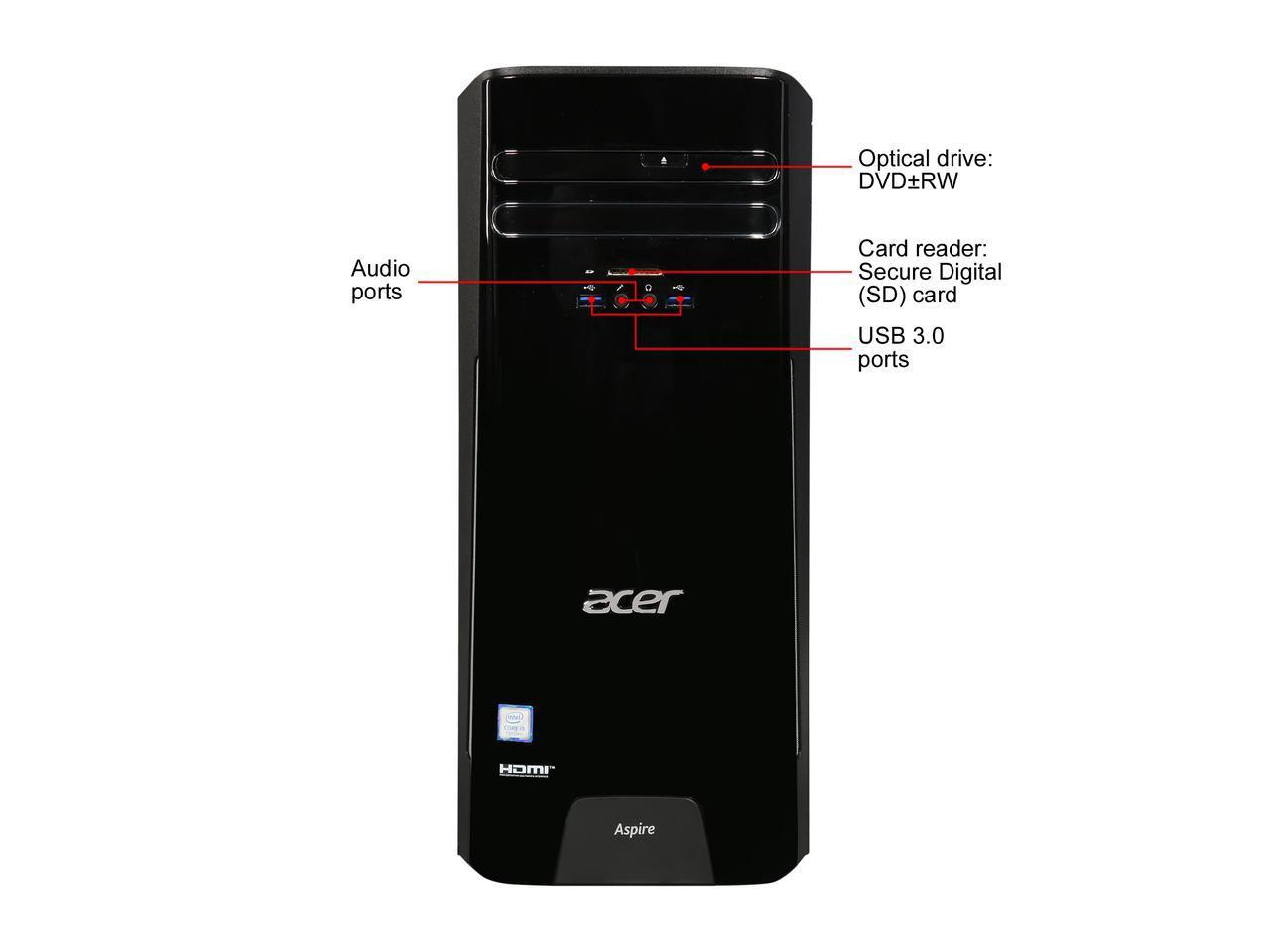 Acer TC-780-NESelecti5 Desktop: i5-7400, 8GB DDR4, 256GB SSD, WiFi + BT, DVD-RW, 300W PSU, Win10H @ $480 with F/S