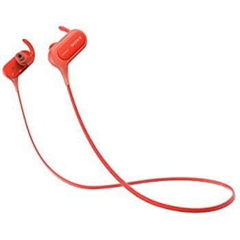 Sony XB50BS Extra Bass IPX4 NFC Sports wireless Bluetooth In-Ear Headphones (Red) @ $38