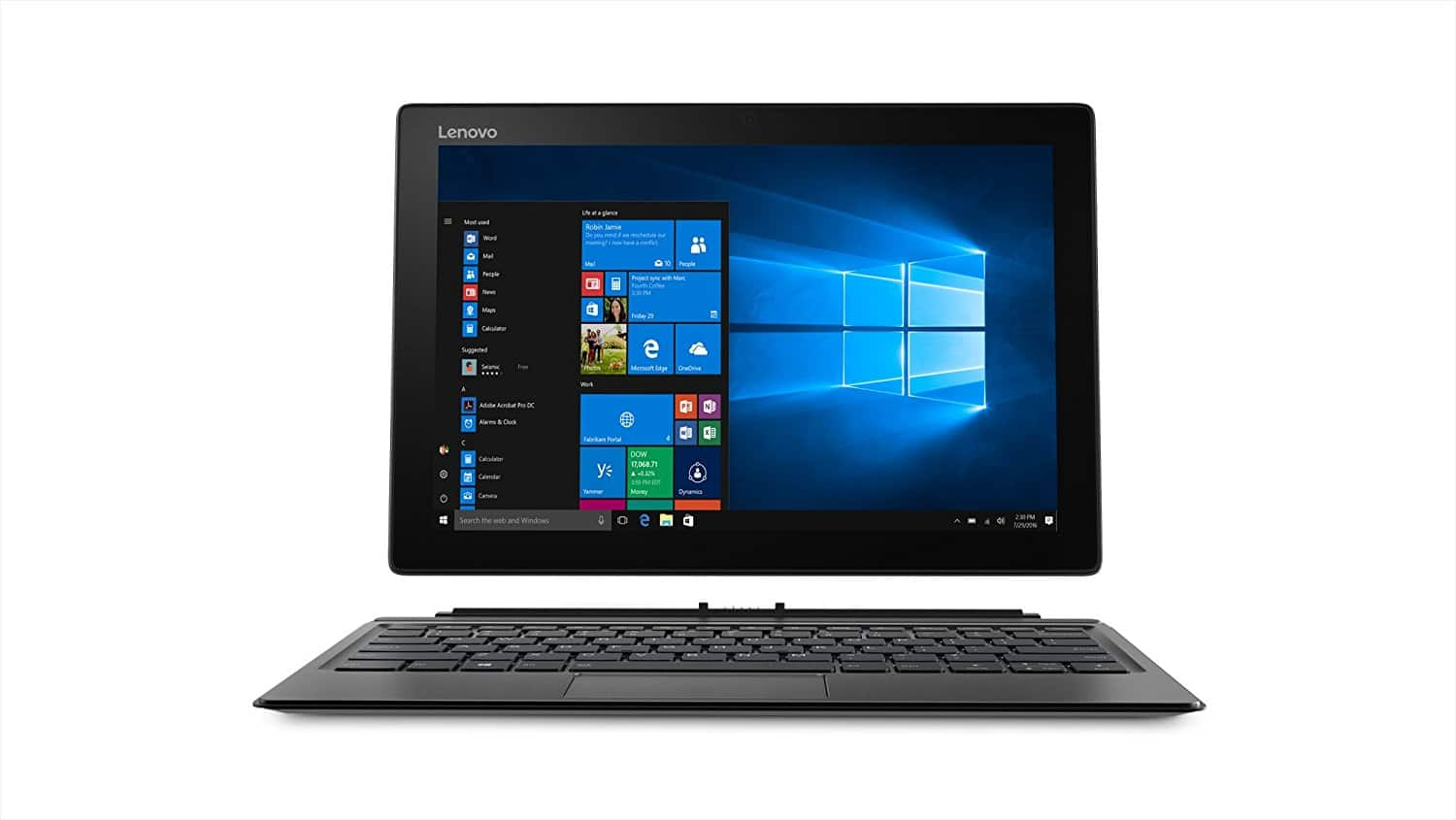 All new Miix 520 2-in-1: 12.2'' FHD IPS Touch, i5-8250U, 8GB DDR4, 256GB PCIe SSD, Keyboard Dock, Lenovo Active Pen 2, Type-C, Win10H @ $828 + F/S