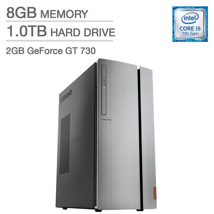 Lenovo ideaCentre 720: i5-7400, 8GB DDR4, 1TB HDD, GT 730, DVD-RW, Win10H @ $400 + $14.95 Shipping