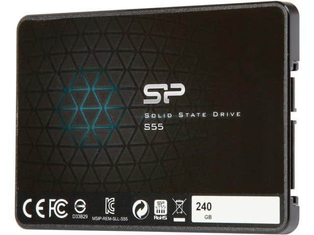 "Silicon Power Slim S55 2.5"" 240GB SATA III TLC SSD @ $70 + F/S"