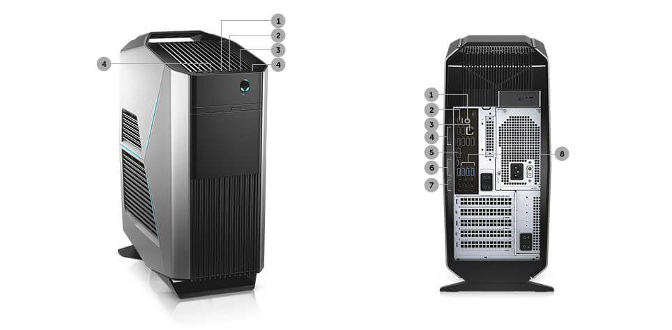 Alienware Aurora R7 Gaming Desktop: i5-8400, 16GB DDR4, 1TB HDD, GTX 1070, 460W PSU, WiFi+BT, Win10H @ $1102.49 + F/S