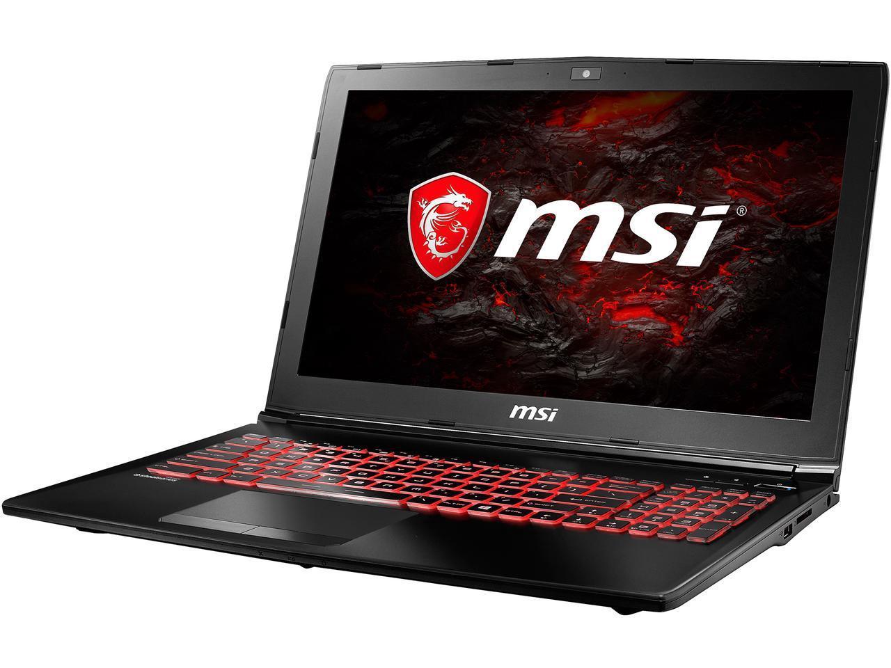 MSI GL62M 7RDX-NE1050i5 laptop: 15.6'' FHD, i5-7300HQ, 8GB DDR4, 1TB HDD, GTX 1050 2GB, Type-C, WIn10H @ $599 AR + F/S