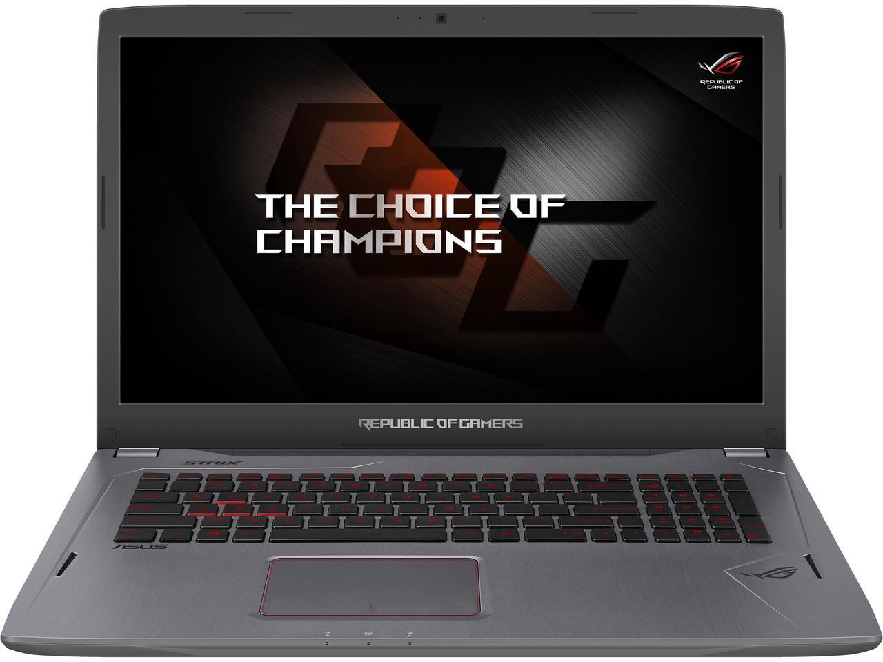 Asus ROG Strix GL702VS-AH73 Gaming Laptop: 17.3'' FHD 75 Hz G-Sync, i7-7700HQ, 12GB DDR4, GTX 1070, 128GB SSD, 1TB HDD, Thunderbolt 3, Win10H @ $1349 + F/S