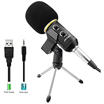 ARCHEER Podcast Recording Microphone with Stand-Professional Condenser @ $9.99 + F/S with Prime