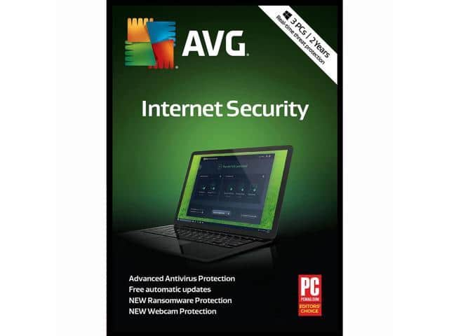 AVG Internet Security 2018 3 PCs for 2 Years @ $9.99, F/S with Shop runners