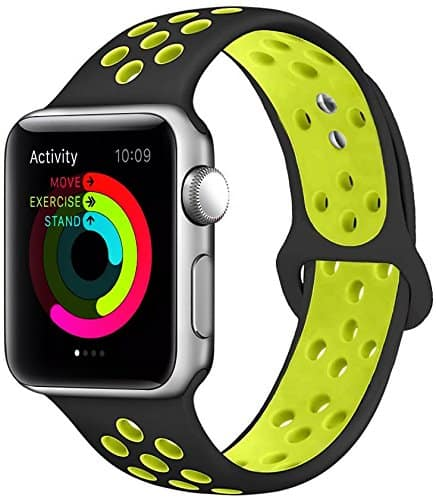 Apple Watch Silicone Watch Bands 38mm / 42mm (Various Colors) from $4.95 + F/S with Amazon Prime