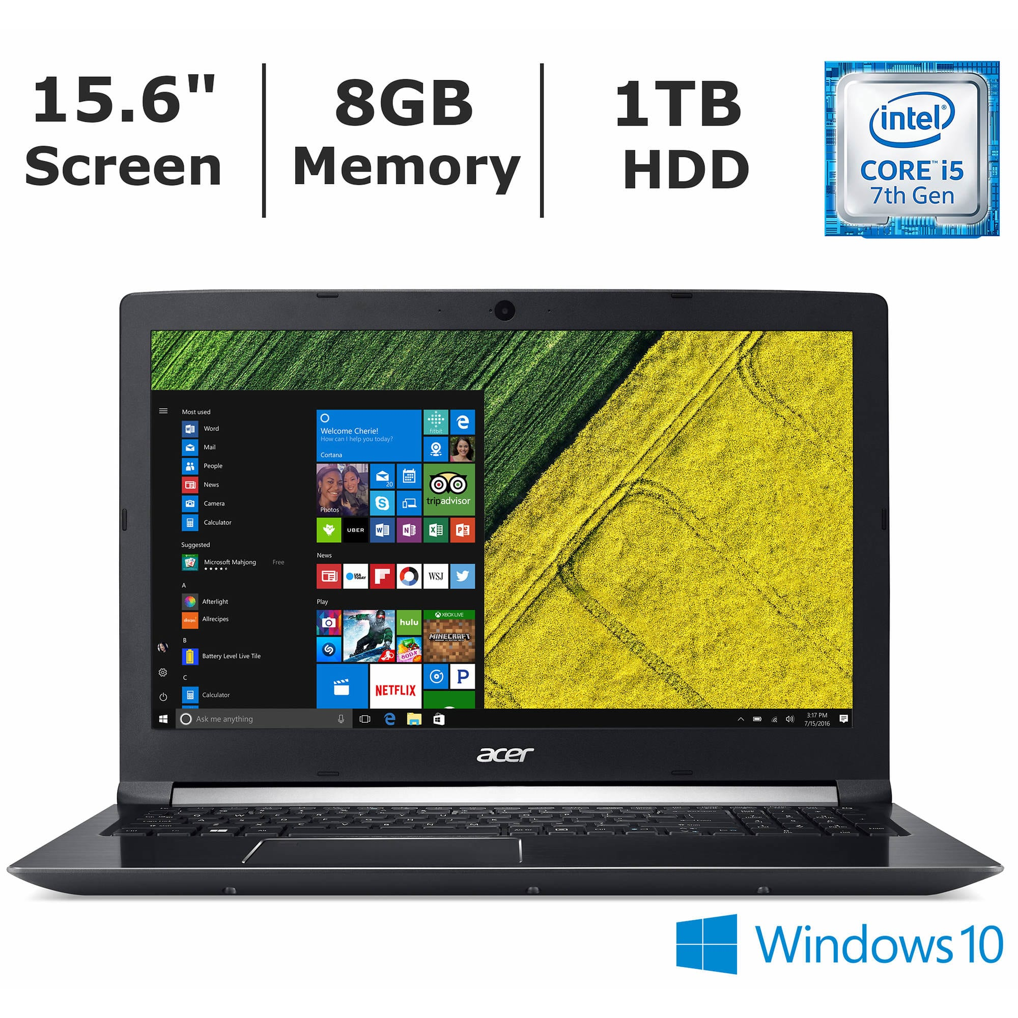 Acer Aspire 7 Gaming laptop: 15.6'' FHD IPS, i5-7300HQ, 8GB DDR4, 1TB HDD, GTX 1050 2GB, Type-C, Win10H @ $549.99 + F/S