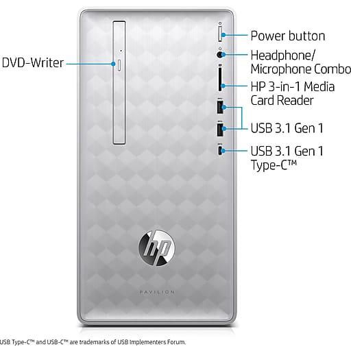 HP Pavilion 590-p0050: i5-8400, 8GB DDR4, 16GB Optane + 1TB HDD, 310W PSU, Win10H @ $460 + F/S