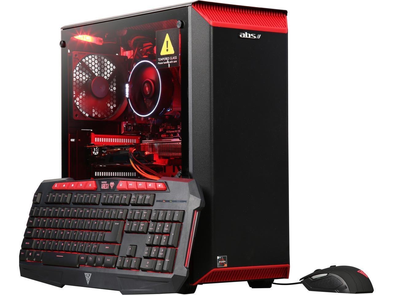 Abs Gaming Desktop Ryzen 7 2700 8gb Ddr4 120gb Ssd 1tb Hdd Gtx