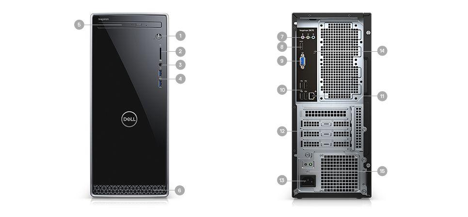 DELL INSPIRON 3670 Desktop: i5-9400, 12GB DDR4, 128GB PCIe SSD, 1TB HDD, Win10H @ $450 + F/S