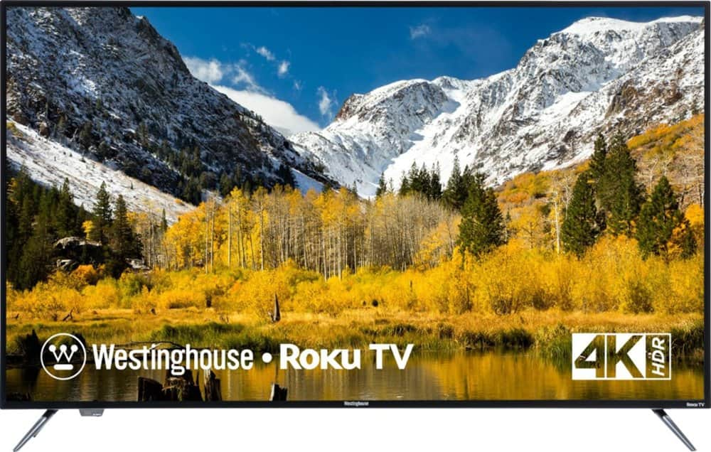 Westinghouse 58'' 4K HDR Roku TV @ $279.99 with F/S or Store Pickup