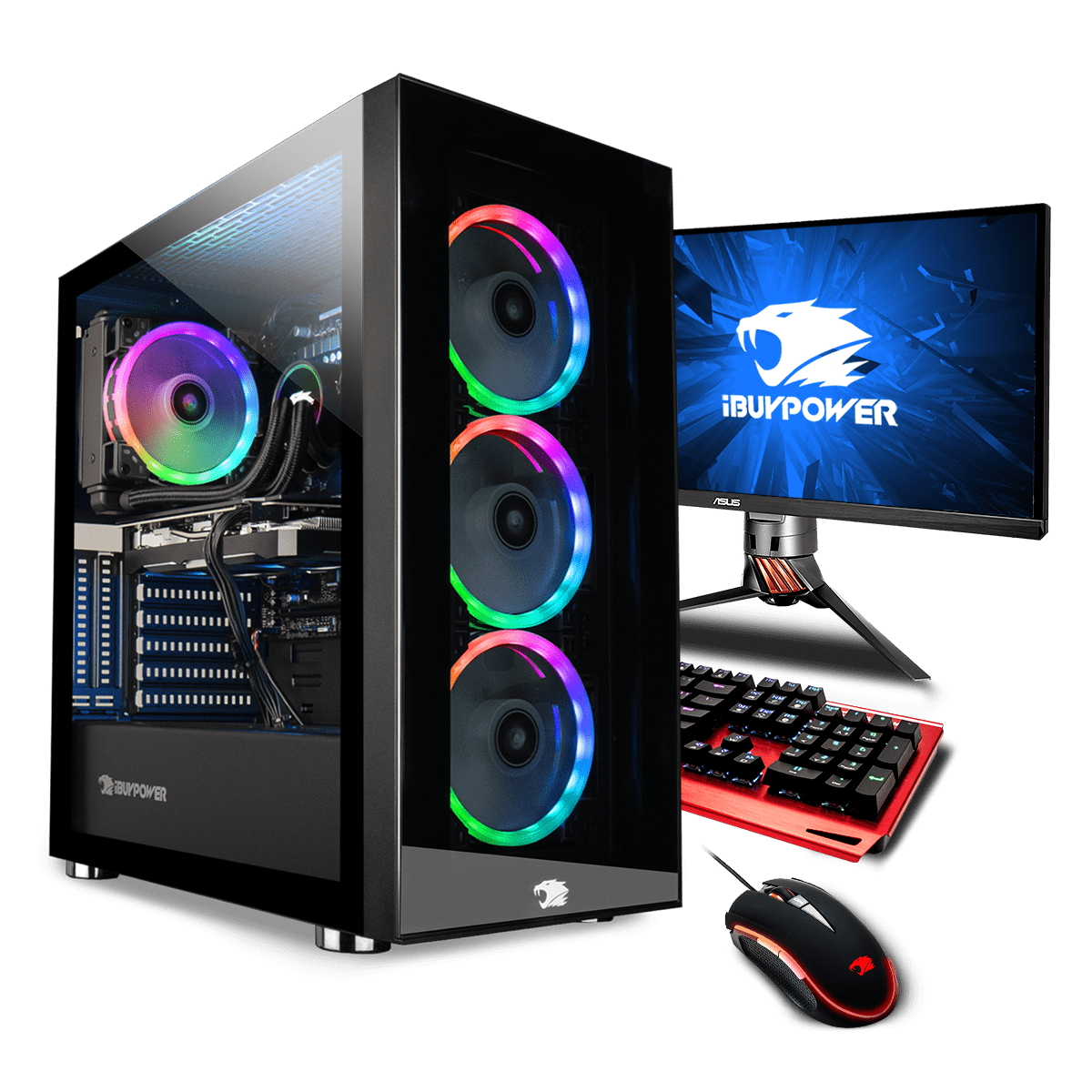 iBuyPower Ryzen 7 RTX2080 SUPER: Ryzen 7 3700X, 16GB DDR4, 512GB PCIe SSD, RTX 2080 Super, 750W PSU, 240mm Cooling, No OS @ $1349.95 + F/S