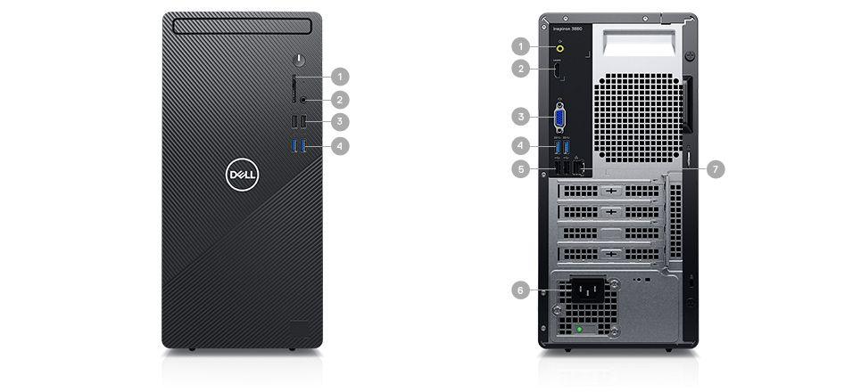 Dell Inspiron 3880 Desktop: i5-10400, 12GB DDR4, 256GB PCIe SSD, 1TB HDD, Win10 Pro @ $585 + F/S