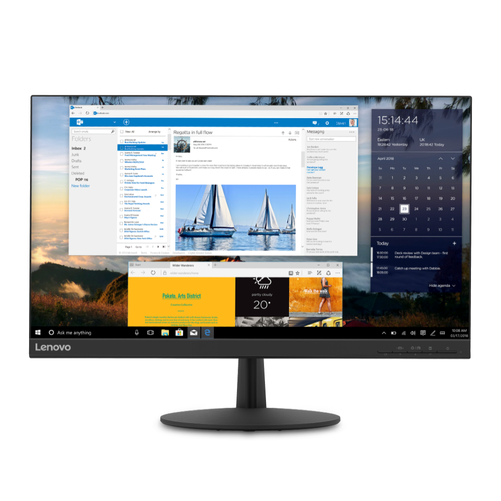 Lenovo L24q-30 23.8'' 1440P 75 Hz IPS FreeSync Monitor + $9.24 Rakuten Cash @ $154.99 + F/S