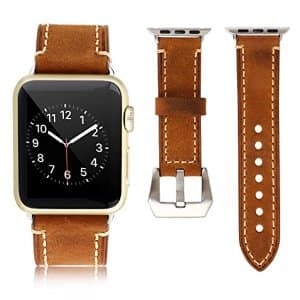 Apple Watch Band 42mm Vintage Genuine Leather $13.88 - Free Prime Shipping