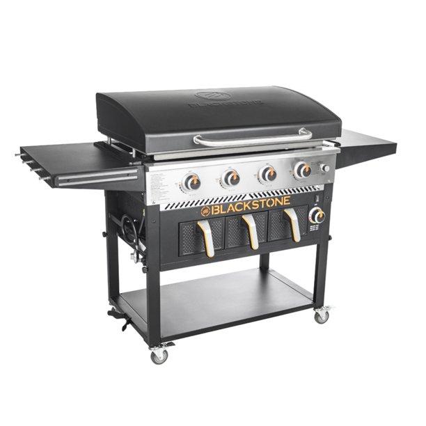 "Blackstone 4-Burner 36"" Griddle with Air Fryer and Hood $299"