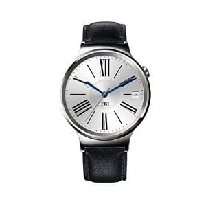 Huawei Watch Stainless Steel with Black Suture Leather Strap (U.S. Warranty) $249.99