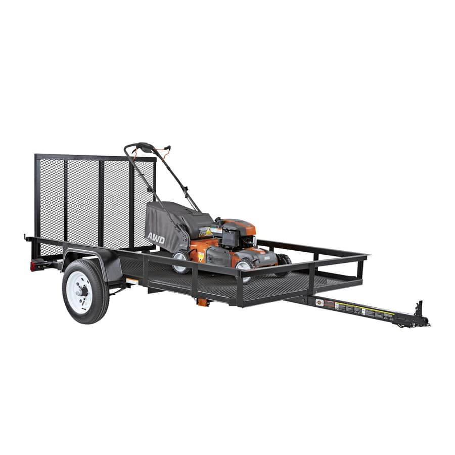 Carry-On Trailer 5-ft x 8-ft Wire Mesh Utility Trailer with Ramp ...