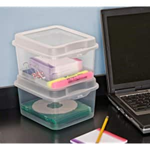 Sterilite Clear Flip Top Storage Box Container, 12 Pack Made In The USA  $11.52