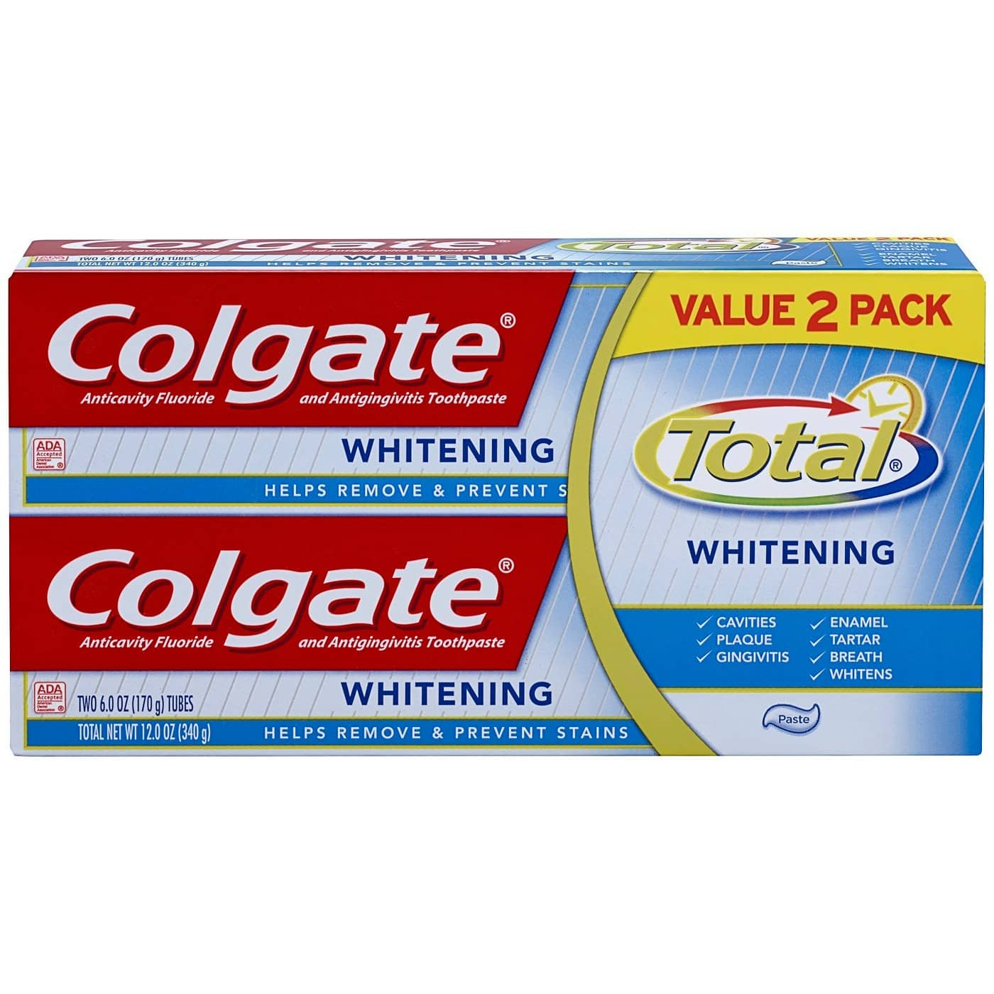 2*Colgate Total Whitening Toothpaste 6oz, Twin Pack +$5 Target Gift Card $9.98