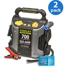 Stanley FatMax 700A Peak Jump Starter/Compressor with Road-Side Service (2-pack) $69.98