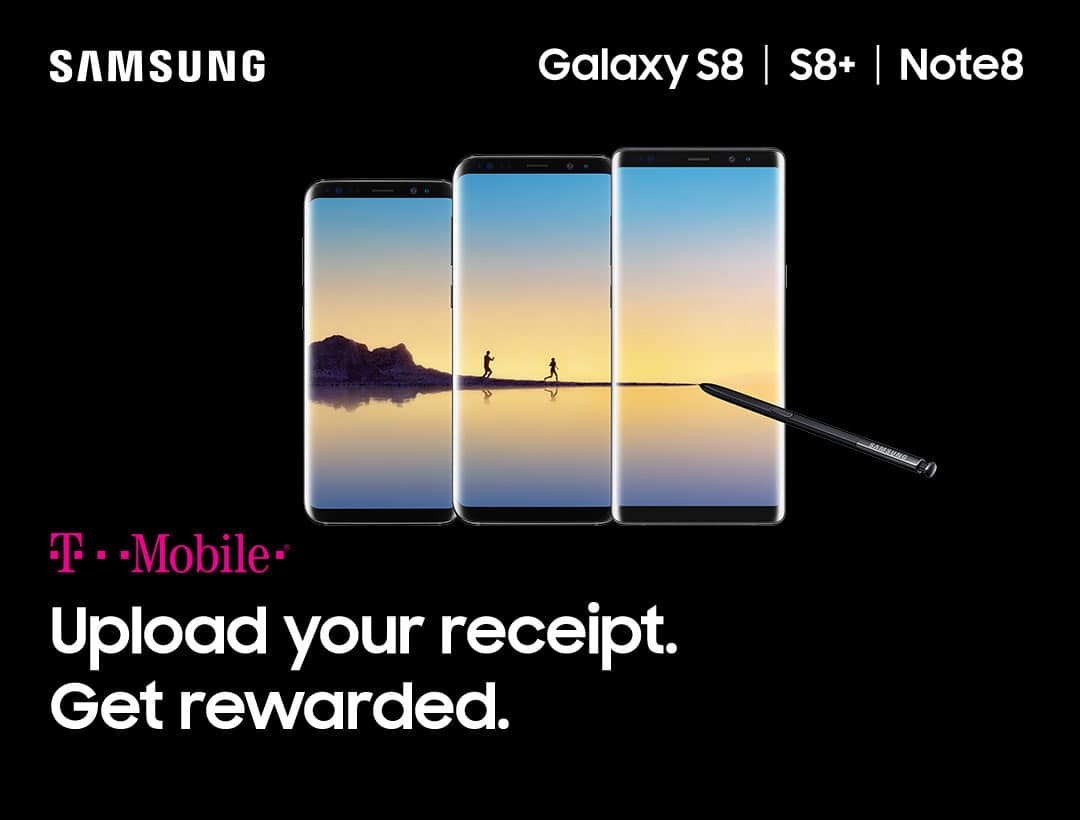 Purchase t-mobile samsung note8 and earn 40000 rewards points