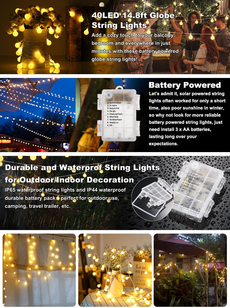 battery powered led globe string lights for 549 ac on amazon - Battery Christmas Lights Amazon