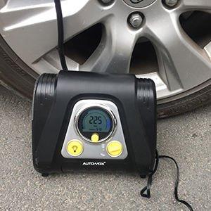 AUTO-VOX 12v Portable Air Compressor for $28.07 on amazon