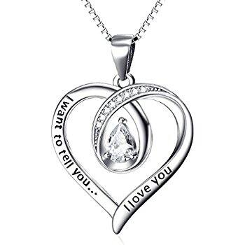 Sterling Silver Heart Necklace for $15.59 AC on Amazon