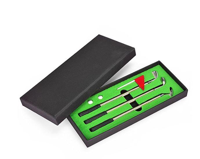 Mini Desktop Golf Pen Set for $9.79 AC on Amazon