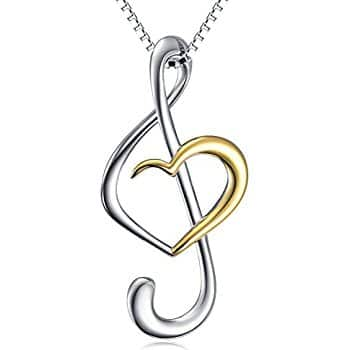Sterling Silver Music Note Necklace for $14.39 AC on Amazon