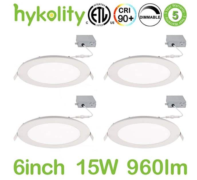 4-Pack of Ultra Thin LED Recessed Lights as Low as $38.49 AC on Amazon