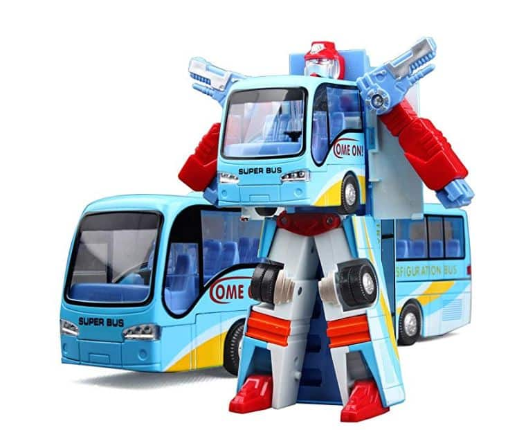 Transforming Robot Toy for $6.99 AC on Amazon