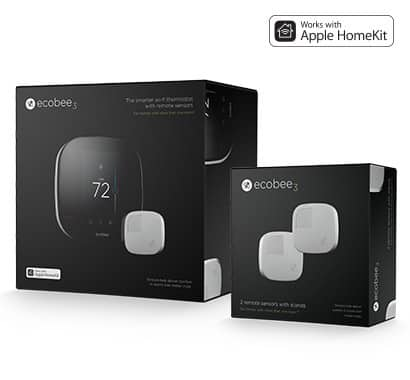 BF: Ecobee3 WiFi Thermostat + 3 Remote Sensors Bundle for $197 with Coupon OR $249 + Free Shipping