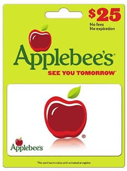 $25 applebees GC for $18.99 shipped @ BJs.com