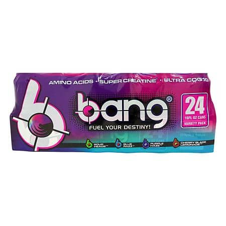 Bang assorted 24 pack $34 free shipping for plus members at Sams